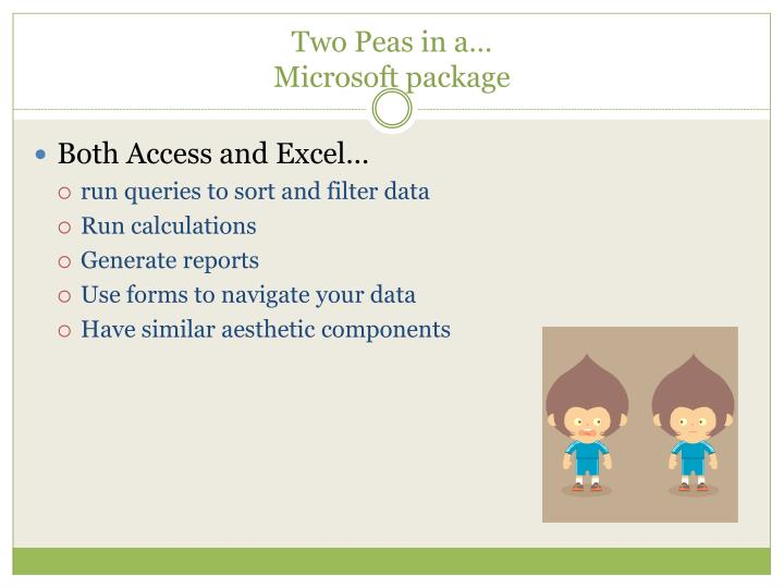 Two peas in a microsoft package