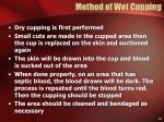 method of wet cupping