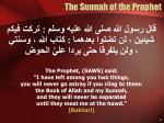 the sunnah of the prophet