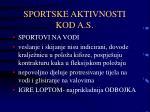 sportske aktivnosti kod a s1
