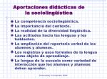 aportaciones did cticas de la socioling stica