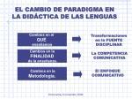 el cambio de paradigma en la did ctica de las lenguas