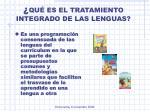 qu es el tratamiento integrado de las lenguas