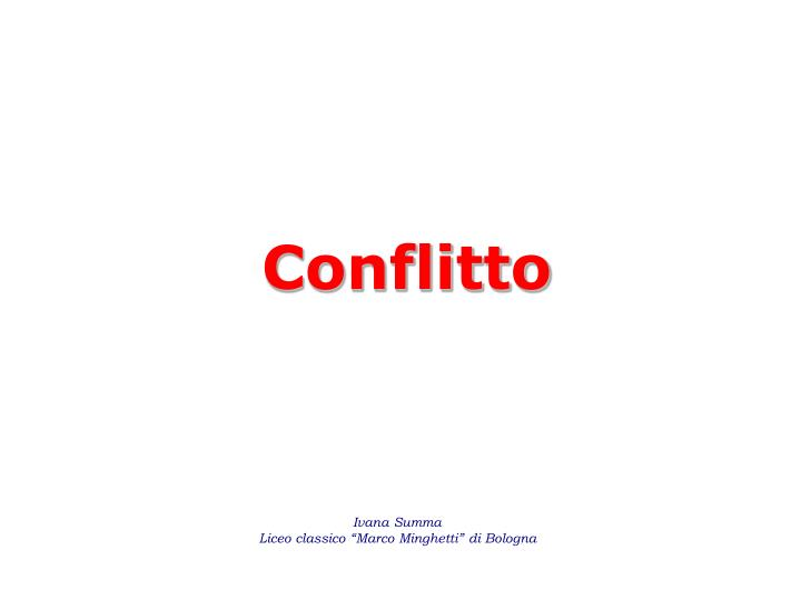conflitto n.