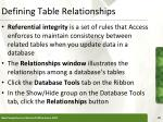 defining table relationships29