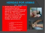 heridas por armas blancas