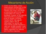 mecanismo de acci n1