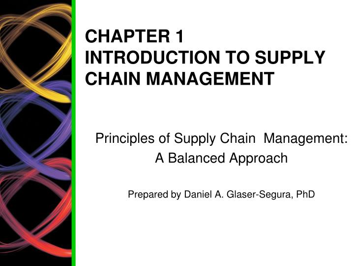 chapter 1 introduction to supply chain management n.