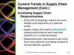 current trends in supply chain management cont