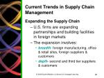 current trends in supply chain management
