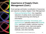 importance of supply chain management cont1