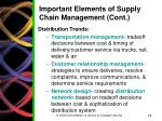 important elements of supply chain management cont1