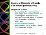 important elements of supply chain management cont2