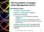 the foundations of supply chain management cont