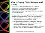 what is supply chain management cont
