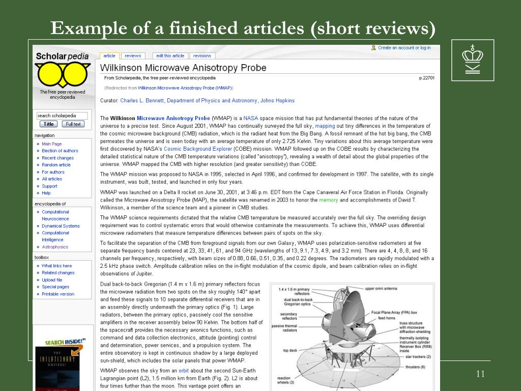 Example of a finished articles (short reviews)
