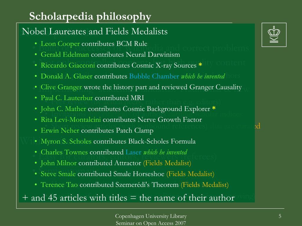 Scholarpedia philosophy