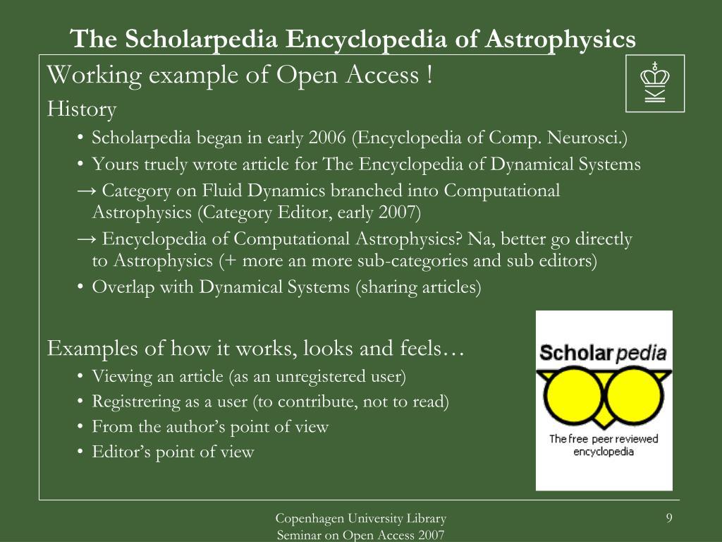 The Scholarpedia Encyclopedia of Astrophysics