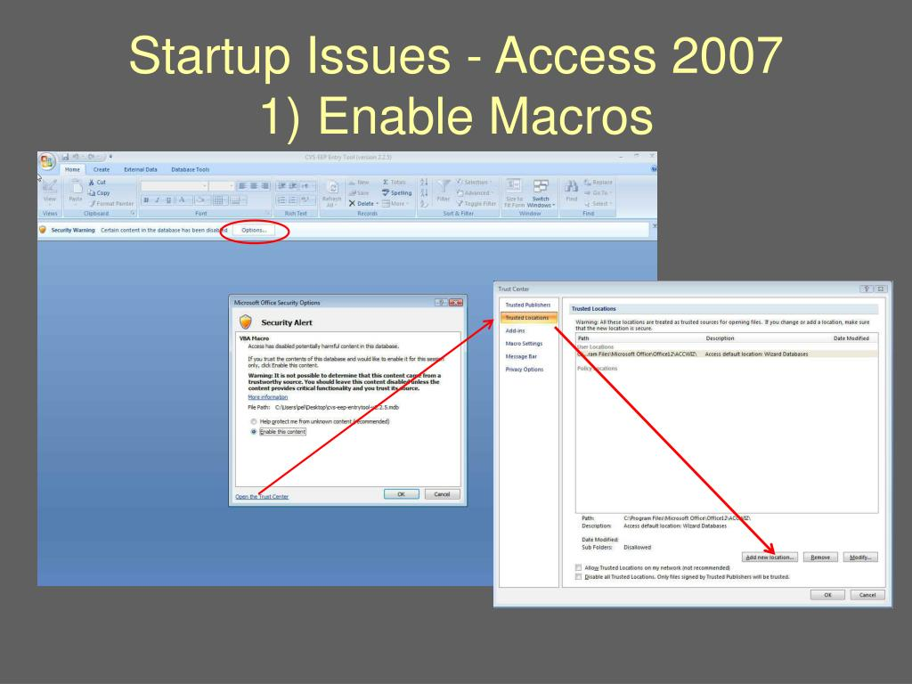 Startup Issues - Access 2007