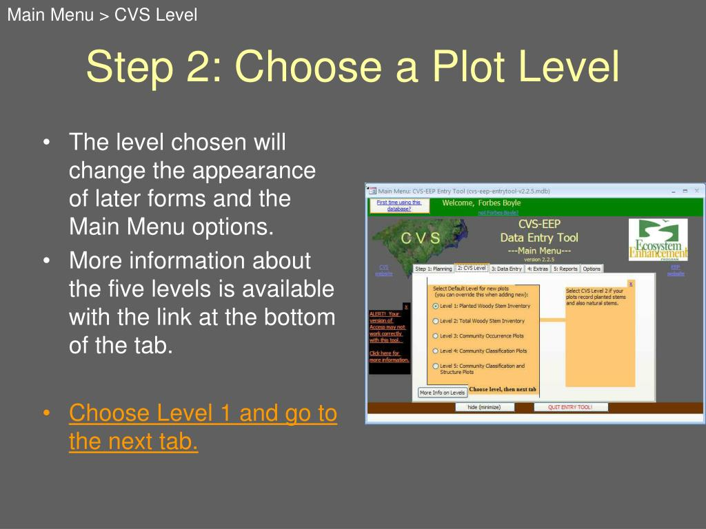 The level chosen will change the appearance of later forms and the Main Menu options.