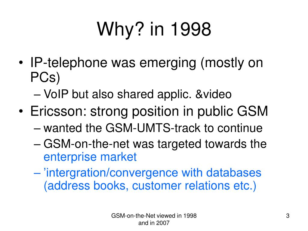 Why? in 1998