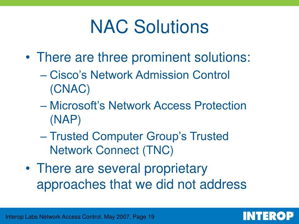 NAC Solutions