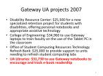 gateway ua projects 2007