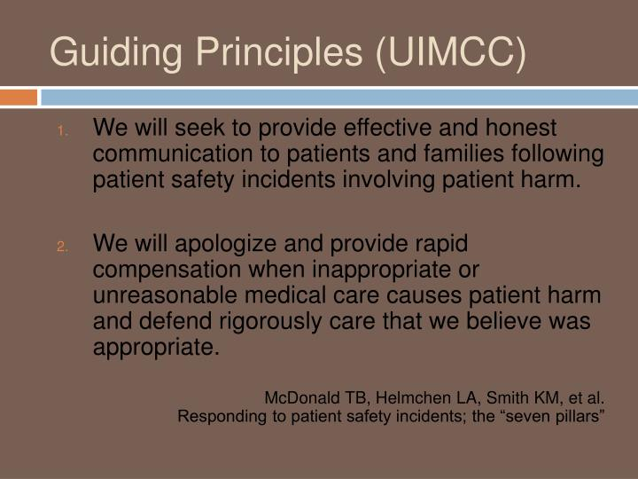 Guiding Principles (UIMCC)