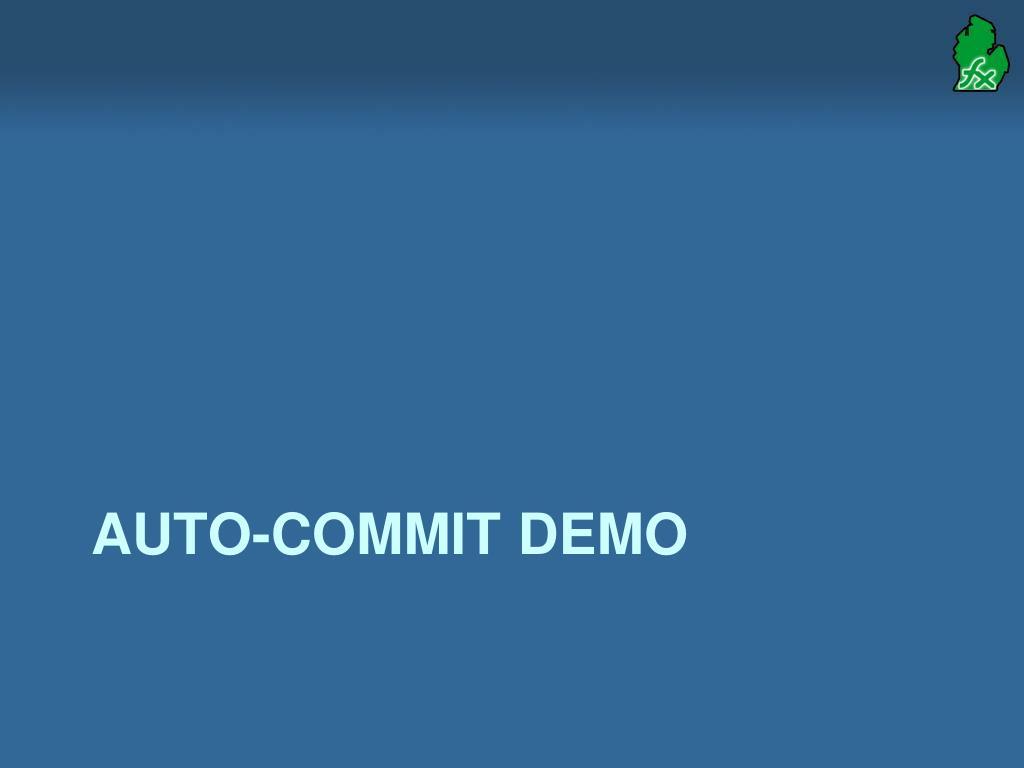 Auto-Commit demo