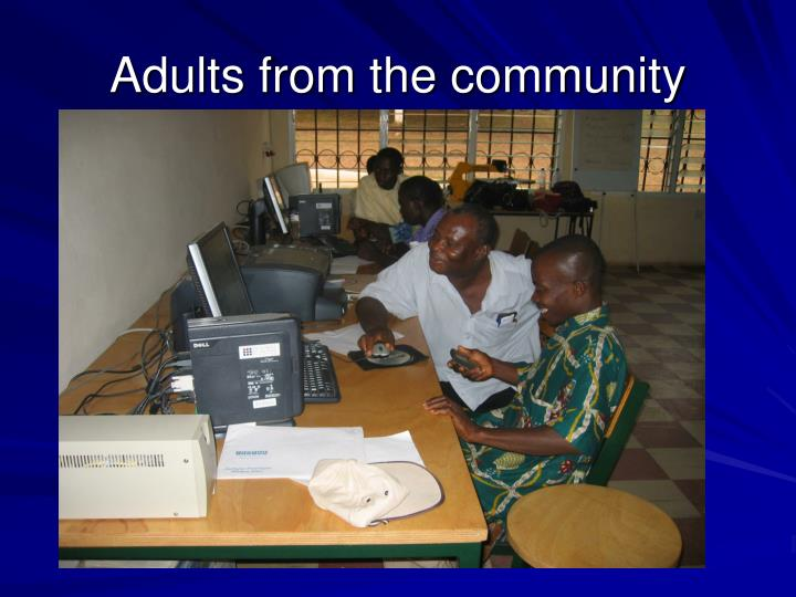 Adults from the community