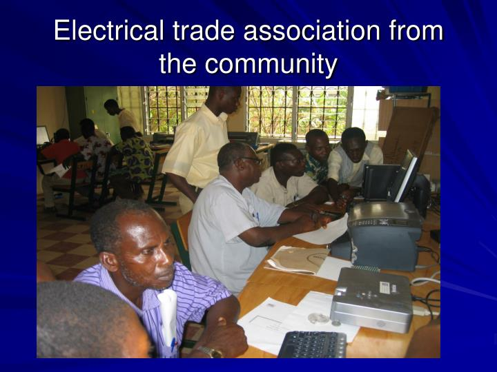 Electrical trade association from the community