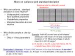 more on variance and standard deviation