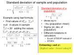 standard deviation of sample and population