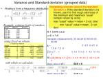 variance and standard deviation grouped data