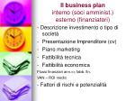 il business plan interno soci amminist esterno finanziatori