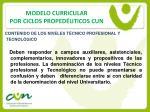 modelo curricular por ciclos proped uticos cun7