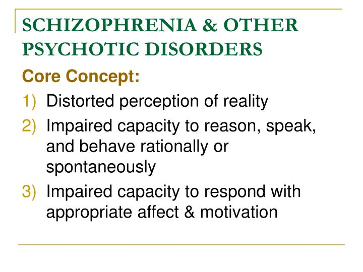 schizophrenia other psychotic disorders n.