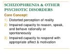 schizophrenia other psychotic disorders