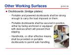 other working surfaces