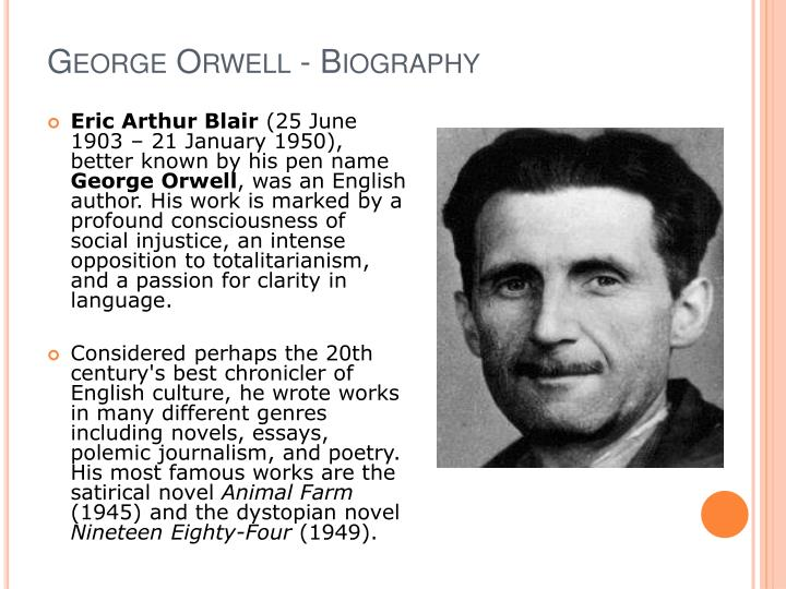 hanging george orwell ppt A hanging george orwell george orwell - biography eric arthur blair (25 june 1903 21 january 1950), better known by his pen name george orwell, was an english &ndash a free powerpoint ppt presentation (displayed as a flash slide show) on powershowcom - id: 3c12c6-ogfjn.