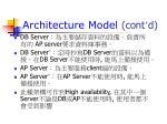 architecture model cont d