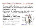 trofazni transformatori konstrukcija