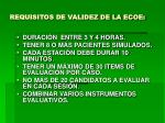 requisitos de validez de la ecoe