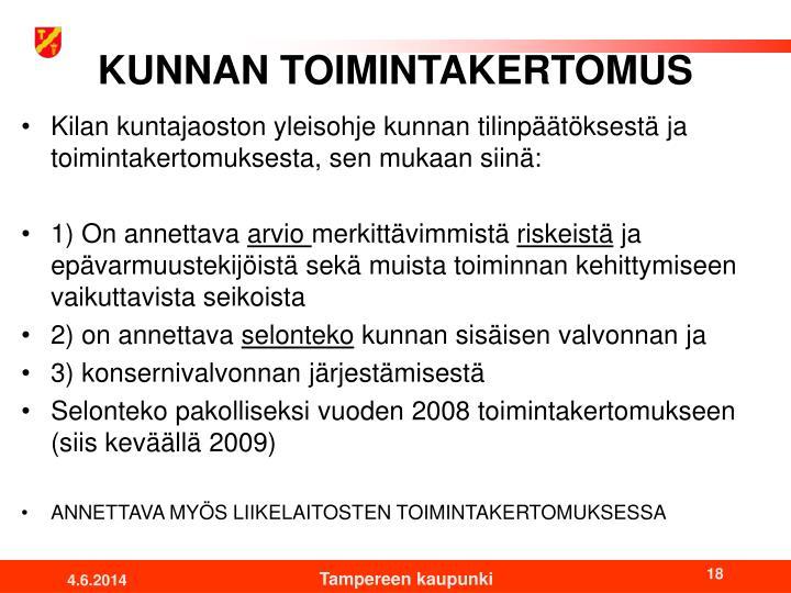 KUNNAN TOIMINTAKERTOMUS