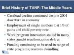 brief history of tanf the middle years