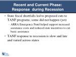 recent and current phase response during recession