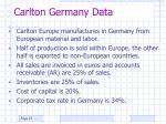 carlton germany data