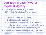 definition of cash flows for capital budgeting
