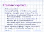 economic exposure1