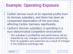 example operating exposure